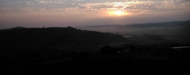 Sunrise this morning in timeline……….at Francomondo winery!